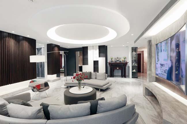 Nội thất căn hộ chung cư 256 m2 tại Hà Nội (2)