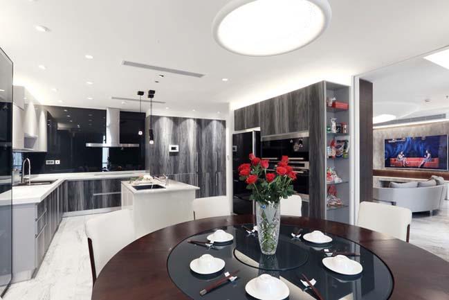 Nội thất căn hộ chung cư 256 m2 tại Hà Nội (5)