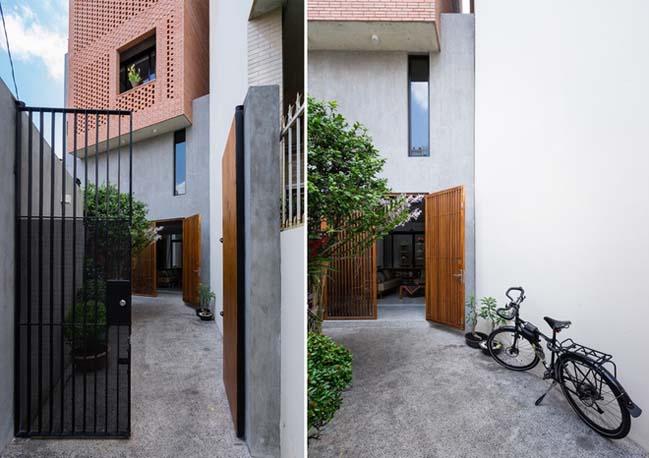 Thiết kế nhà phố 4 tầng với mặt tiền gạch đỏ ở Sài Gòn (2)