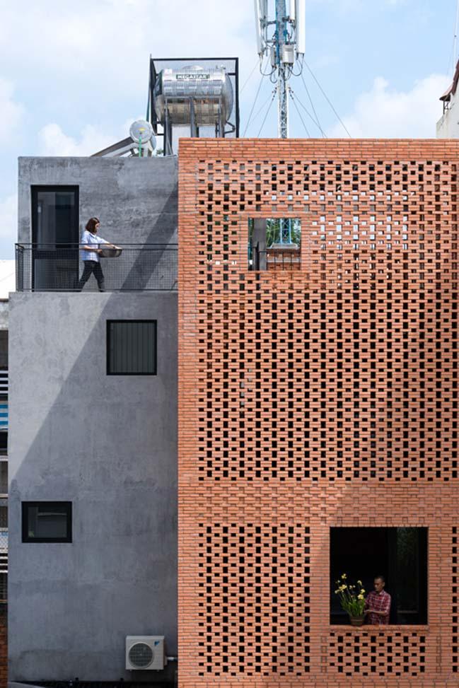Thiết kế nhà phố 4 tầng với mặt tiền gạch đỏ ở Sài Gòn (3)