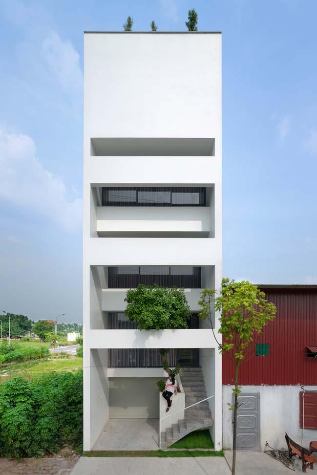 Thiết kế nhà phố 5 tầng ở Bắc Ninh (1)
