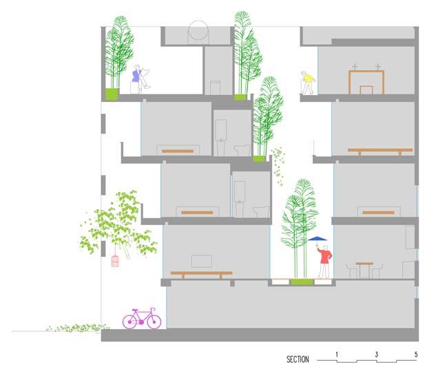 Thiết kế nhà phố 5 tầng ở Bắc Ninh (17)