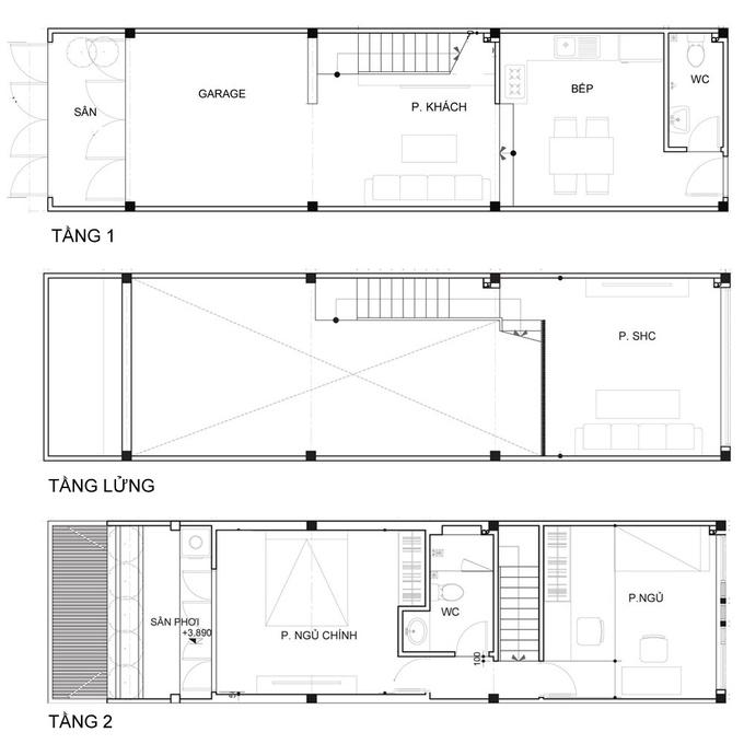 Nhà phố đẹp 40 m2 ở quận Tân Phú Sài Gòn sau cải tạo (3)