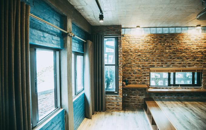 Nhà phố 2 tầng không sơn trát ở Vĩnh Phúc (11)