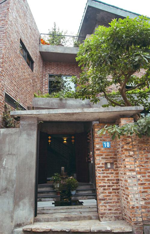 Nhà phố 2 tầng không sơn trát ở Vĩnh Phúc (2)