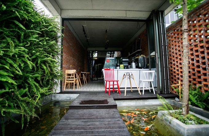 Thiết kế nhà phố 2 tầng kiêm quán cà phê ở Đà Nẵng (2)