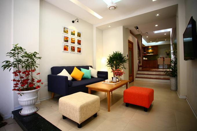 Không gian nhà ống 4 tầng 45 m2 ở Hà Nội (1)