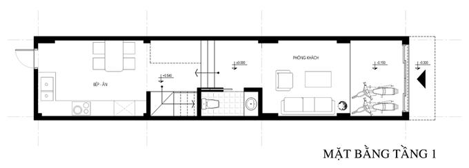 Không gian nhà ống 4 tầng 45 m2 ở Hà Nội (13)