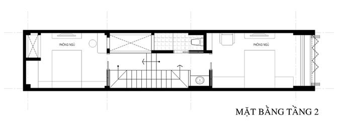 Không gian nhà ống 4 tầng 45 m2 ở Hà Nội (14)