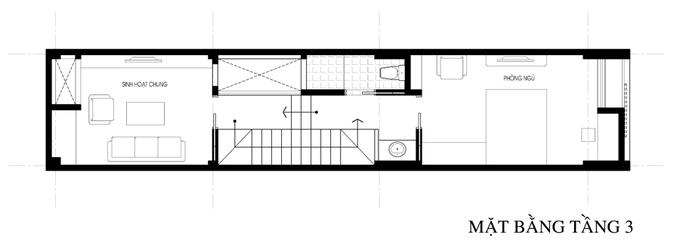 Không gian nhà ống 4 tầng 45 m2 ở Hà Nội (15)