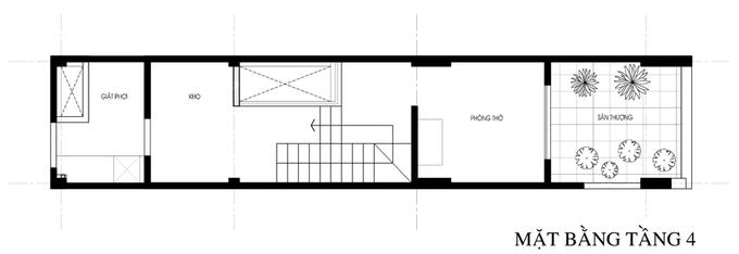Không gian nhà ống 4 tầng 45 m2 ở Hà Nội (16)