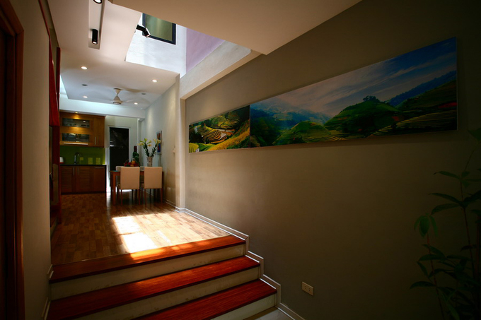 Không gian nhà ống 4 tầng 45 m2 ở Hà Nội (8)
