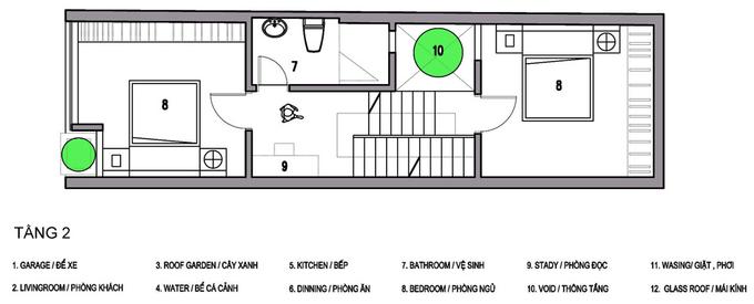 Nhà phố 3 tầng 52 m2 ở Hải Dương (12)