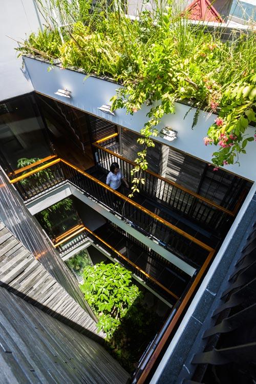 """Nhà ống 4 tầng """"Vườn Trong Phố"""" sâu 40 m ở Đà Nẵng (6)"""