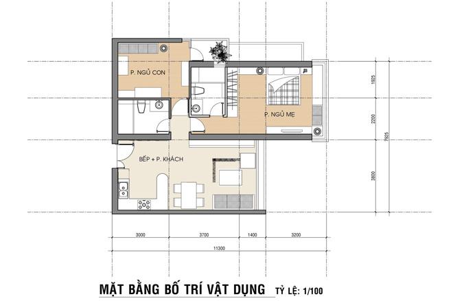 Hoàn thiện nội thất căn hộ 80 m2 với 300 triệu (12)
