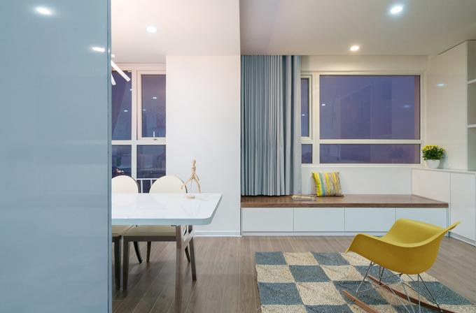Không gian căn hộ 120 m2 quận Cầu Giấy Hà Nội (1)