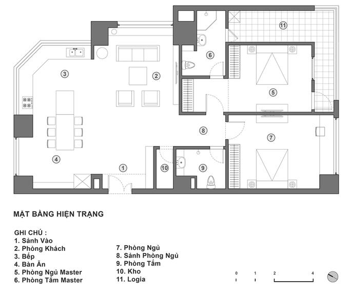 Không gian căn hộ 120 m2 quận Cầu Giấy Hà Nội (9)