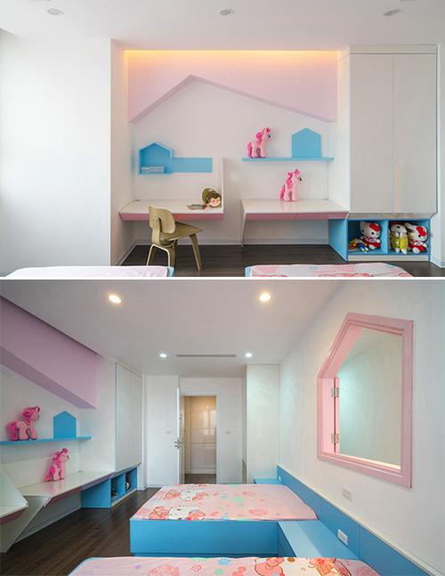 Không gian căn hộ 120 m2 quận Cầu Giấy Hà Nội nhadepso