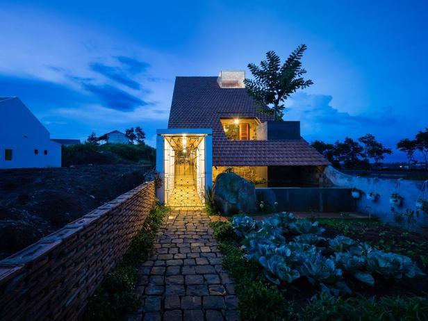 Công trình nhà đẹp 120 m2 ở Di Linh, Lâm Đồng (1)