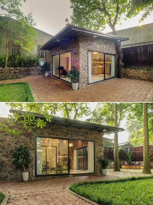 Ngôi nhà đẹp như cổ tích lọt thỏm giữa vườn cây ở Hà Nội