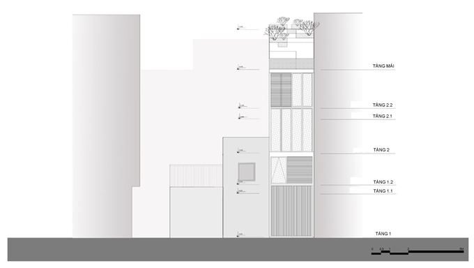Nhà phố 2 tầng bằng thép tôn ở Hà Nội (16)