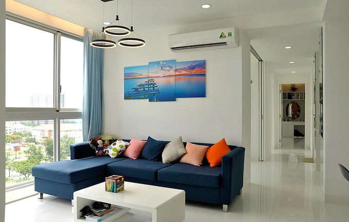 Nội thất căn hộ 3 phòng ngủ 100 m2 ở Sài Gòn (1)