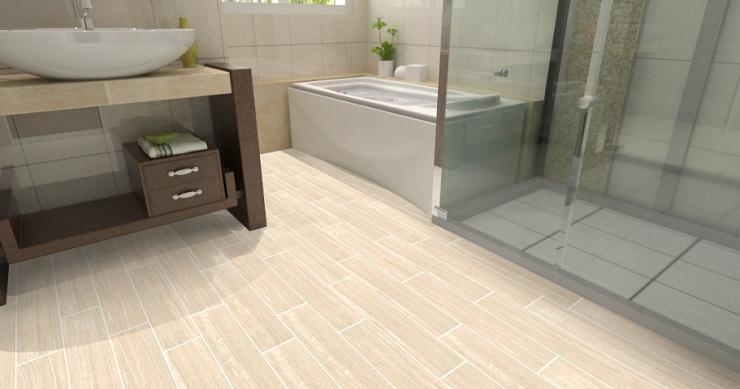 Mẫu phòng tắm lát gạch Ceramic