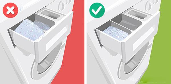 Các sai lầm khi dùng máy giặt (2)