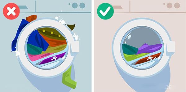 Các sai lầm khi dùng máy giặt (5)