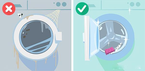 Các sai lầm khi dùng máy giặt (7)