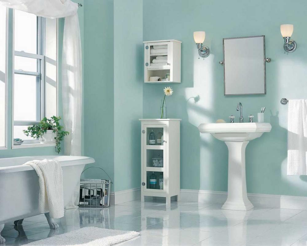 Các gam màu chuẩn cho không gian phòng tắm sạch sẽ và tươi sáng (3)