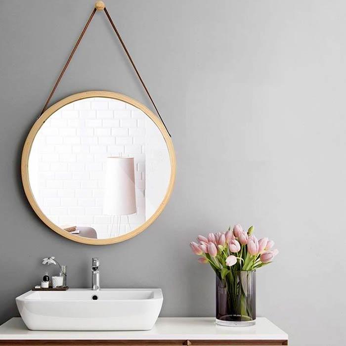 chọn gương phòng tắm hình tròn