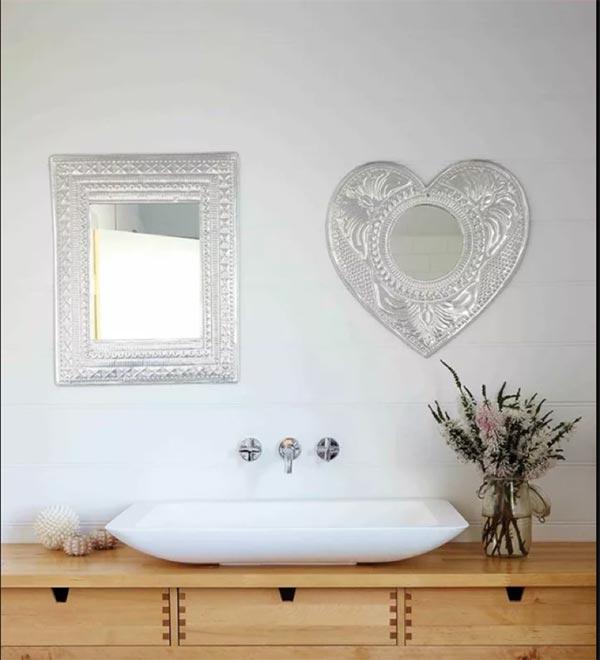 chọn họa tiết cho gương phòng tắm