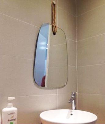 Gương phòng tắm hình rẻ quạt