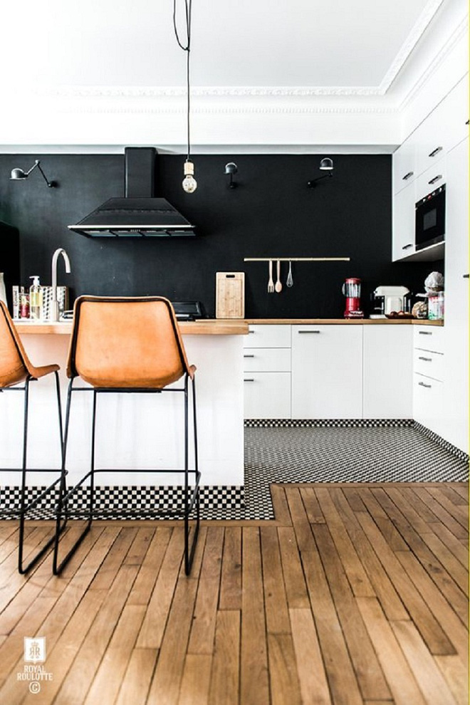 16 thiết kế phòng bếp đẹp với hai gam màu đen trắng (11)