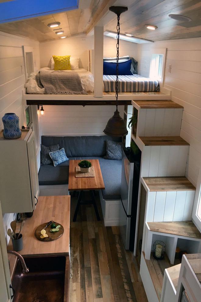 gác lửng đẹp với chỗ ngủ dành cho hai người