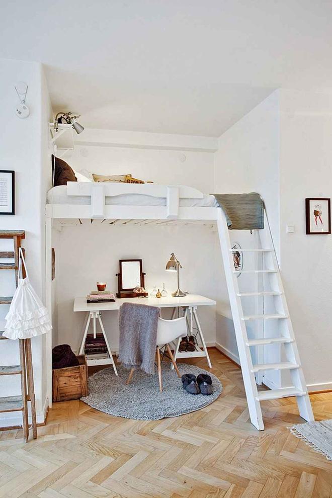 Gác lửng nhỏ khá được chuộng để thiết kế chỗ ngủ nghỉ