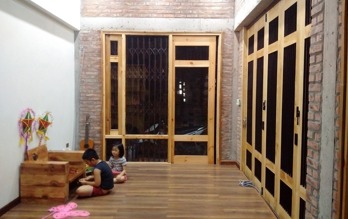 Three-story townhouse 600 million in Hai Duong (4)
