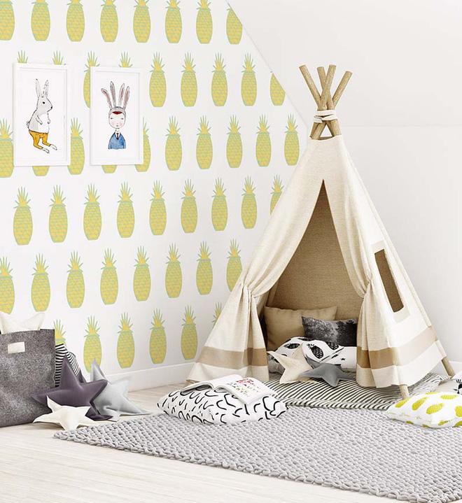 17 mẫu giấy dán tường cho phòng ngủ trẻ em đẹp (1)