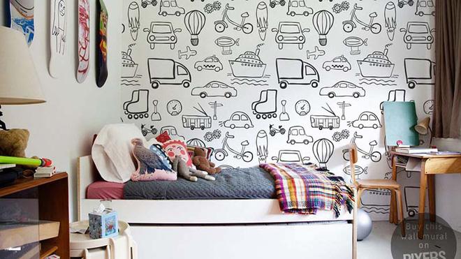 17 mẫu giấy dán tường cho phòng ngủ trẻ em đẹp (14)