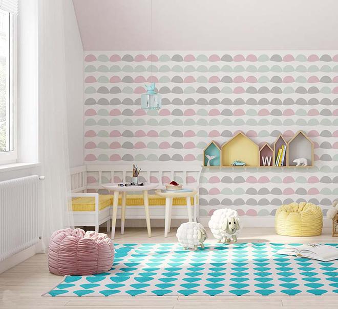 17 mẫu giấy dán tường cho phòng ngủ trẻ em đẹp (17)