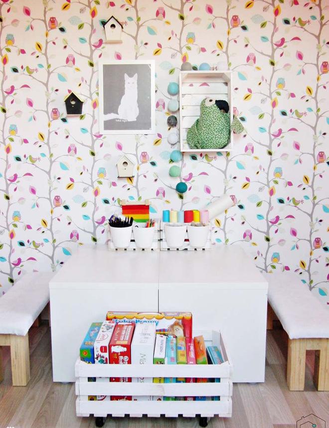 17 mẫu giấy dán tường cho phòng ngủ trẻ em đẹp (3)