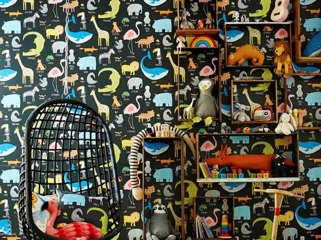 17 mẫu giấy dán tường cho phòng ngủ trẻ em đẹp (5)