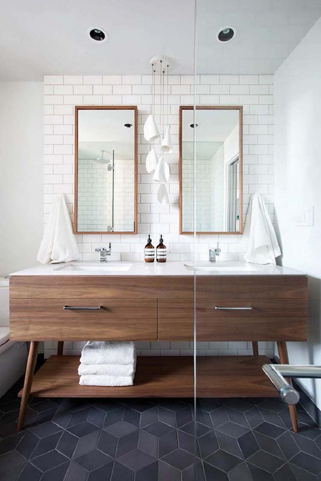 15 mẫu phòng tắm đẹp phong cách Midcentury (2)