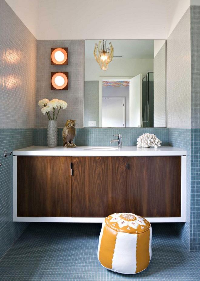 15 mẫu phòng tắm đẹp phong cách Midcentury (4)