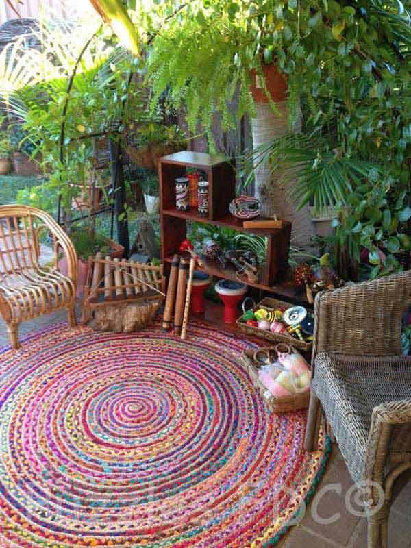 Cách trang trí sân vườn theo phong cách Bohemian (17)