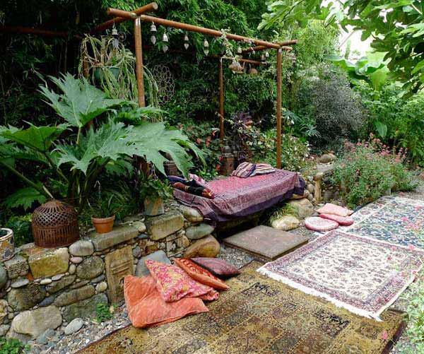 Cách trang trí sân vườn theo phong cách Bohemian (3)