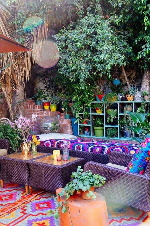 Cách trang trí sân vườn theo phong cách Bohemian (4)