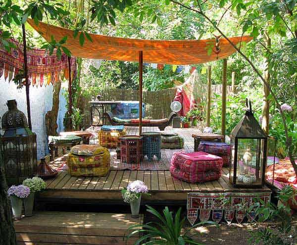 Cách trang trí sân vườn theo phong cách Bohemian (7)