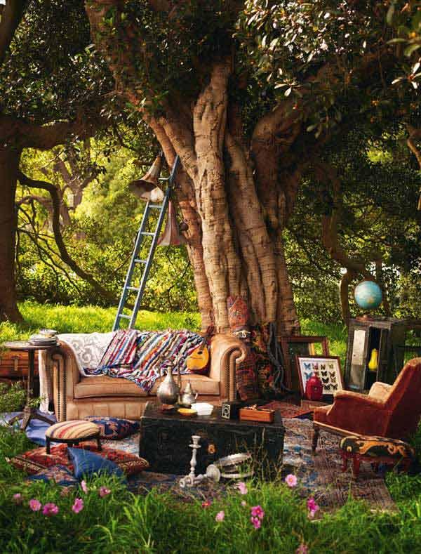 Cách trang trí sân vườn theo phong cách Bohemian (8)